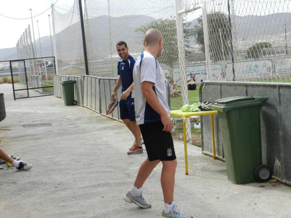 Marcos Rodríguez esta mañana saliendo del vestuario. Foto: Pedro Gómez (Crónicas deportivas de Cartagena).