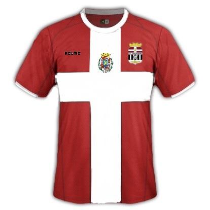 Propuesta de la  FPFCCT sobre la camiseta con los colores de la Bandera de la Provincia marítima de Cartagena.