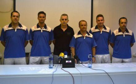 Staff técnico Futsal Cartagena. Foto: Futsal Cartagena.
