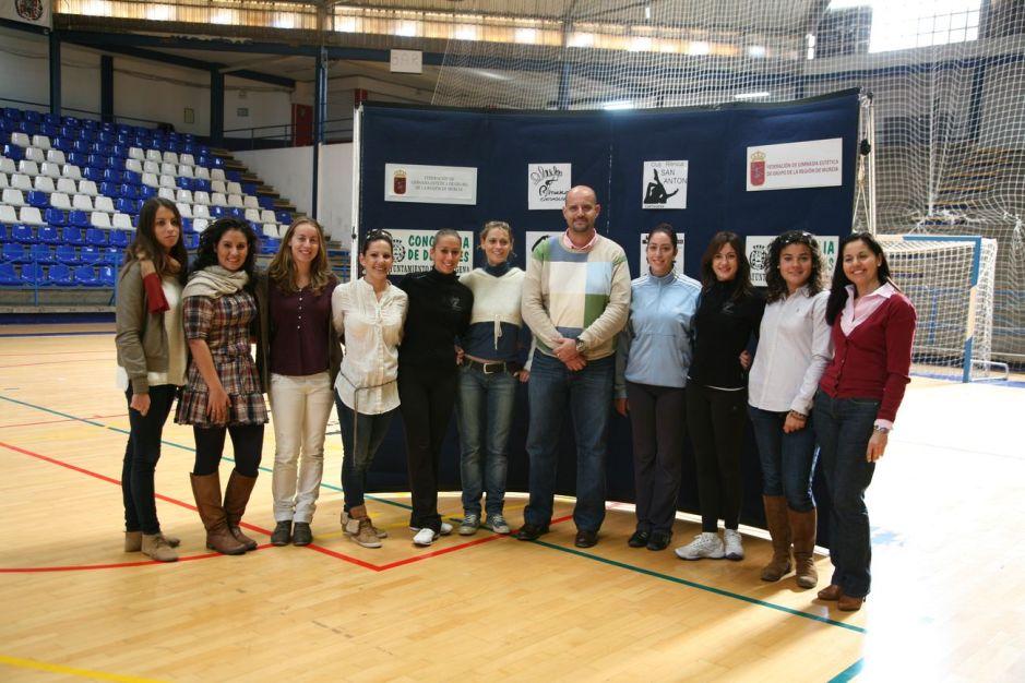 Diego Ortega con el equipo tecnico del Proyecto Gimnasia Cartagena
