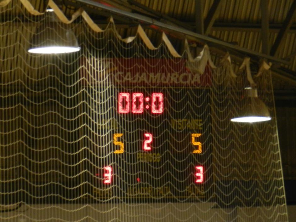Ver para creer. Del 5-1, al 5-5. Foto: Pedro Gómez (Crónicas deportivas de Cartagena).