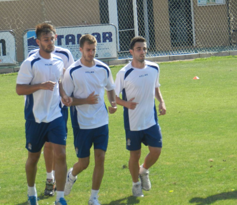 Canteranos del FC Cartagena entrenando. Foto: Pedro Gómez (Crónicas deportivas de Cartagena).
