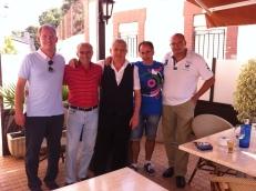 Fran de Paula, Perico, Paco, Pedro y Pencho