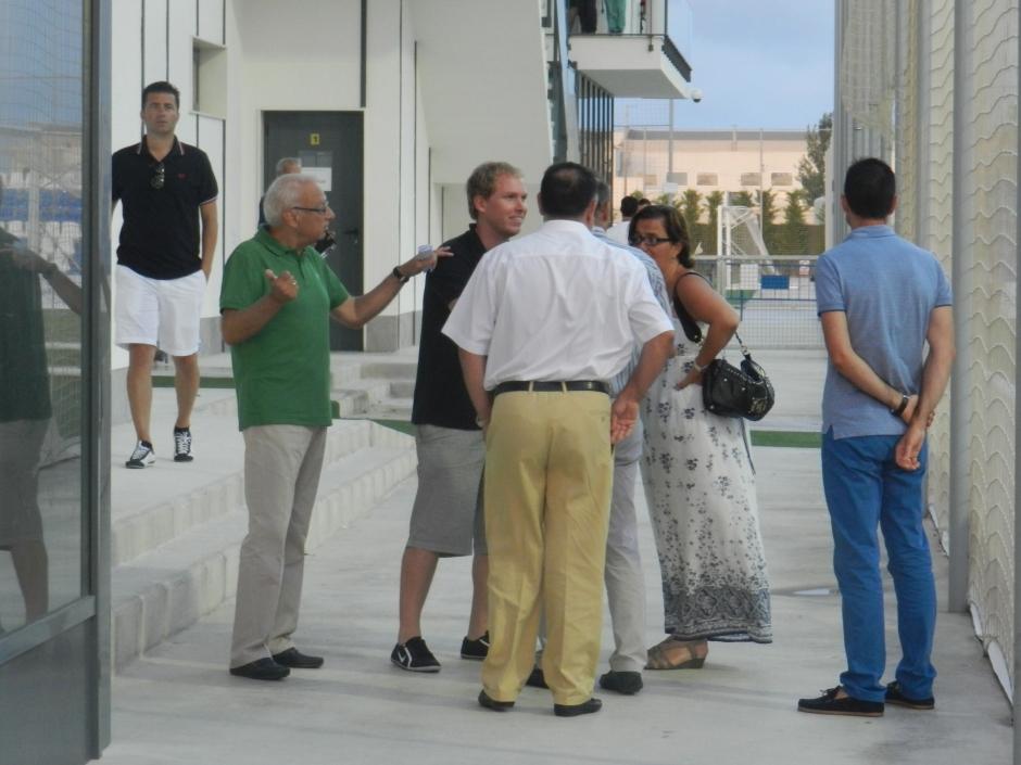 Paco Gómez junto a Fran de Paula en un encuentro de pretemporada. Foto: Pedro Gómez (Crónicas deportivas de Cartagena).
