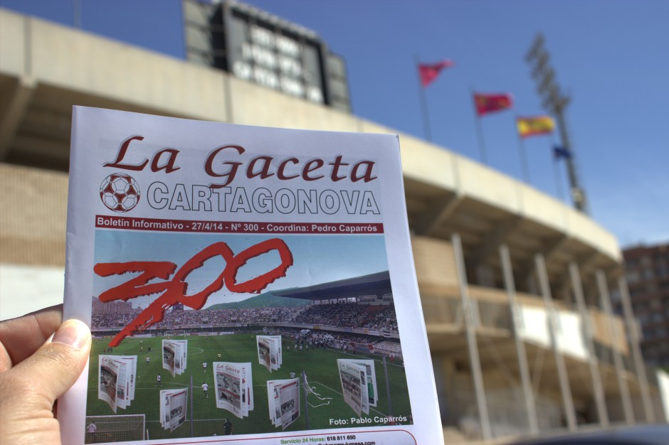 300 números de La Gaceta Cartagonova Foto Pedro Gómez (Crónicas deportivas de Cartagena)