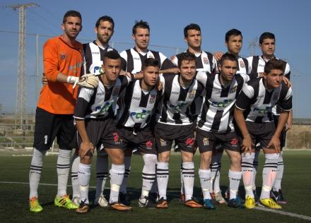 Alineación del Cartagena FC frente al CD Bullense. Foto: Pedro Gómez (Crónicas deportiva de Cartagena).