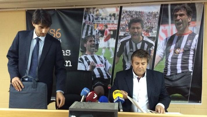 Javier Martínez y Javier Marco en rueda de prensa. Foto: Pepe González (OM Radio).