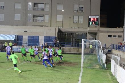 Diego Ruiz con el Águilas frente al Cartagena Foto Pedro Gómez (Crónicas deportivas de Cartagena)