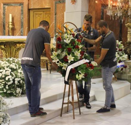 Ofrenda floral a la patrona de Cartagena. Foto: Pedro Gómez (Crónicas deportivas de Cartagena).
