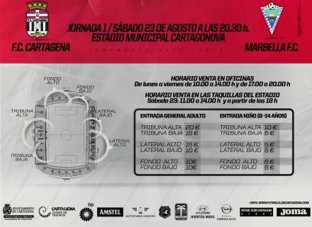 Precios FC Cartagena Marbella FC