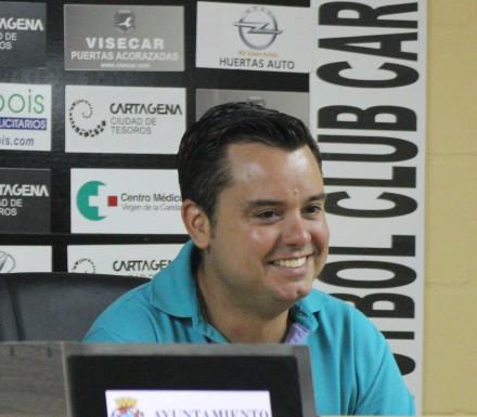 Antonio Martínez, Jefe de prensa del FC Cartagena Foto Pedro Gómez (Crónicas deportivas de Cartagena)