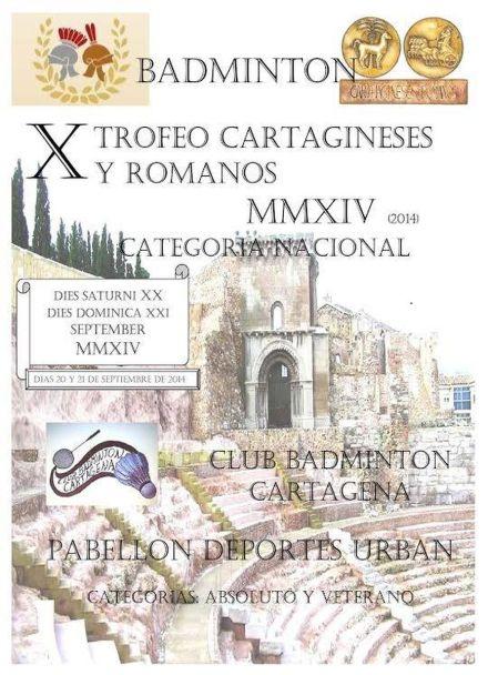 Bádminton X trofeo Cartagineses y Romanos