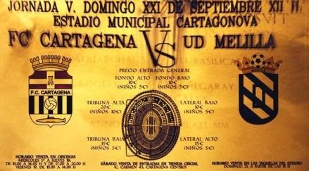 Cartel jornada 5 FC CARTAGENA UD MELILLA