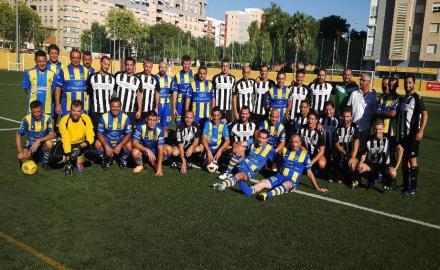 Foto de grupo veteranos del FC Cartagena y Orihuela
