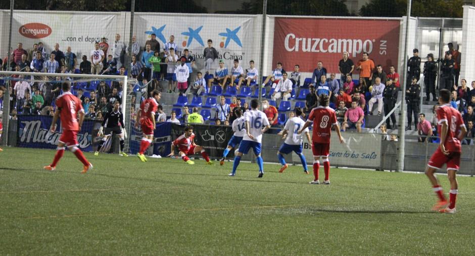 CD El Palo 1 FC Cartagena 1. Foto: Pedro Gómez (Crónicas deportivas de Cartagena).