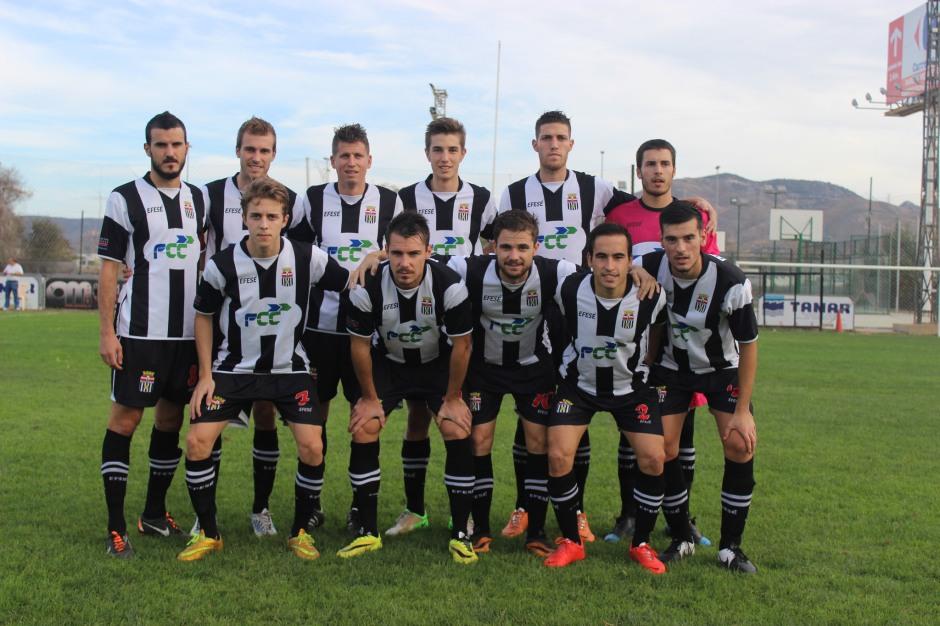 Alineación del Cartagena FC en un encuentro de esta temporada. Foto: Pedro Gómez (Crónicas deportivas de Cartagena).
