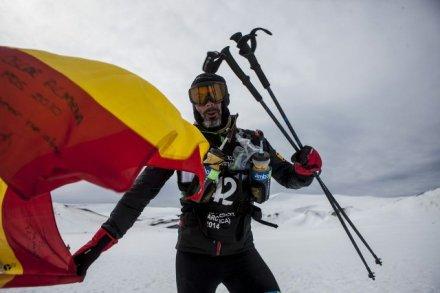 Andrés Lledó en La Antártida