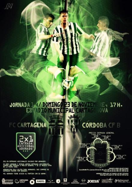 CARTEL PARTIDO FC CARTAGENA - CORDOBA CF