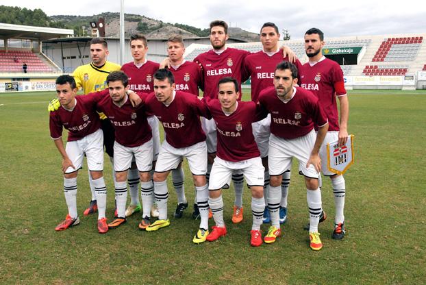 Alineación del Cartagena FC en Cuenca. Foto: UB Conquense