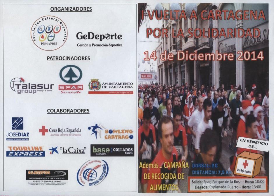 cartel vuelta a Cartagena por la solidaridad