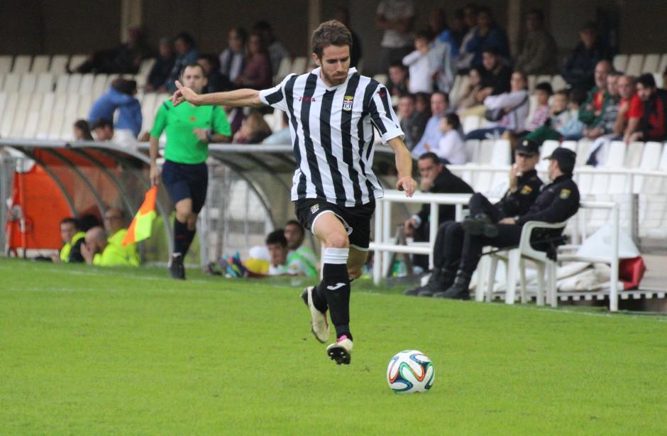 Germán con la camiseta del FC Cartagena. Foto: Pedro Gómez (Crónicas deportivas de Cartagena).