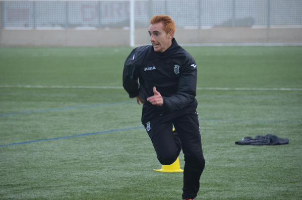 Samu en el entrenamiento del FC Cartagena. Foto: FC Cartagena