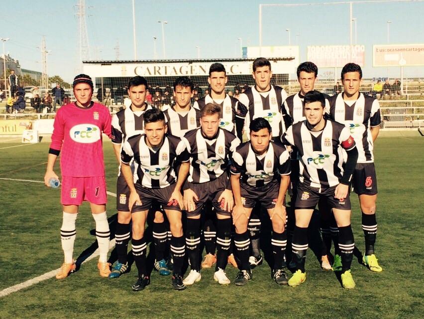 Alineación del Cartagena FC Juvenil frente al Villarreal