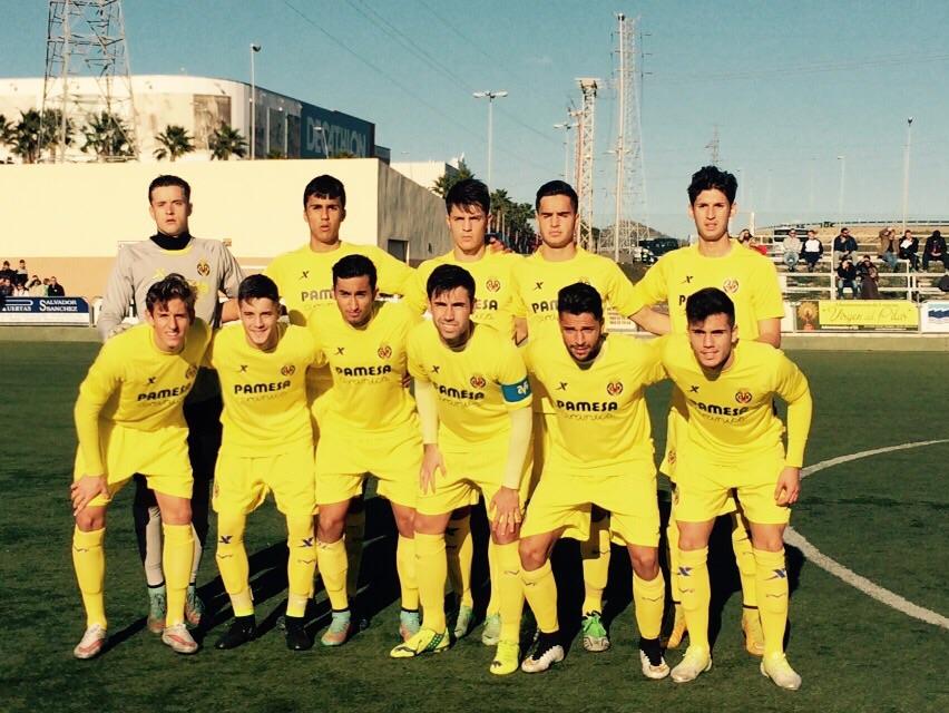 Alineación del Villarreal Juvenil en Cartagena