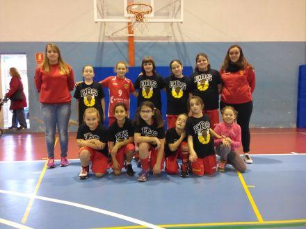 Benjamín Mixto Escuela de baloncesto Salesianos Cartagena
