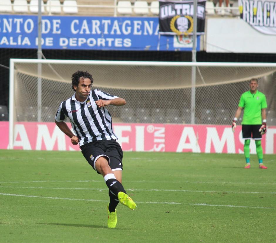Nacho Neira en el Cartagonova. Foto: Pedro Gómez (Crónicas deportivas de Cartagena).