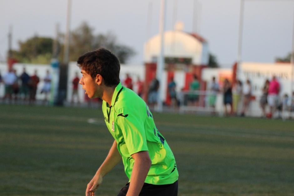 Pani con el FC Cartagena en pretemporada. Foto: Pedro Gómez (Crónicas deportivas de Cartagena).