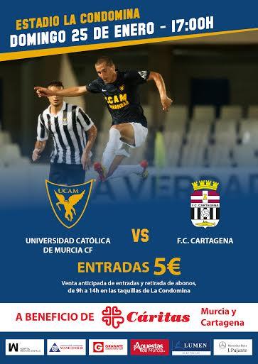 UCAM Cartagena FC Cartagena a beneficio de Cáritas