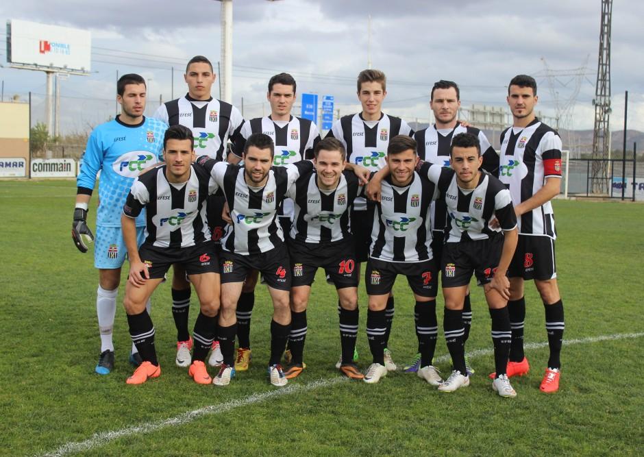 Formación del Cartagena FC en un encuentro. Foto: Pedro Gómez (Crónicas deportivas de Cartagena).