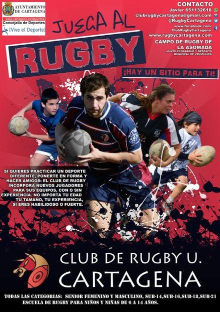 CRU Cartagena cartel juega al rugby