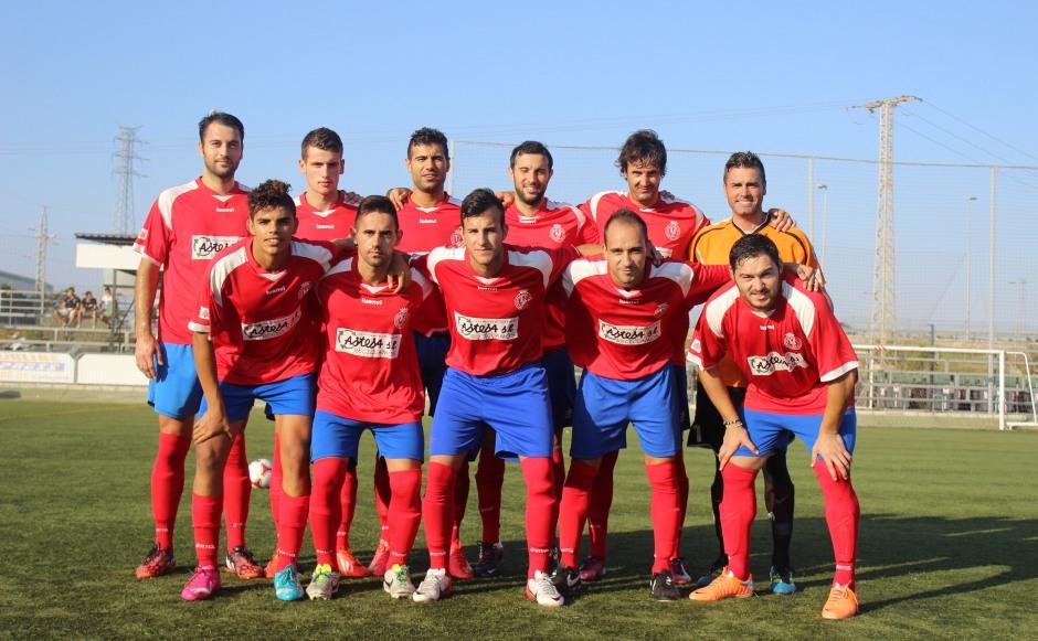 Formación de la Deportiva Minera en un encuentro. Foto: Pedro Gómez (Crónicas deportivas de Cartagena).