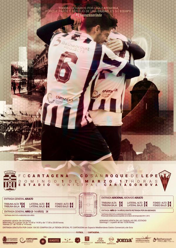 Precios especiales para el FC Cartagena CD San Roque
