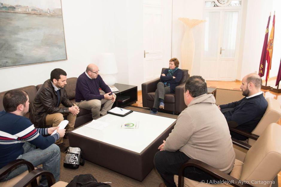 Visita de representantes de la FPFCCT a la alcaldía
