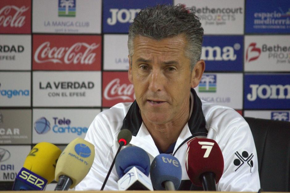 Alejandro Ceballos post partido de Cartagena. Foto: Pedro Gómez (Crónicas deportivas de Cartagena).