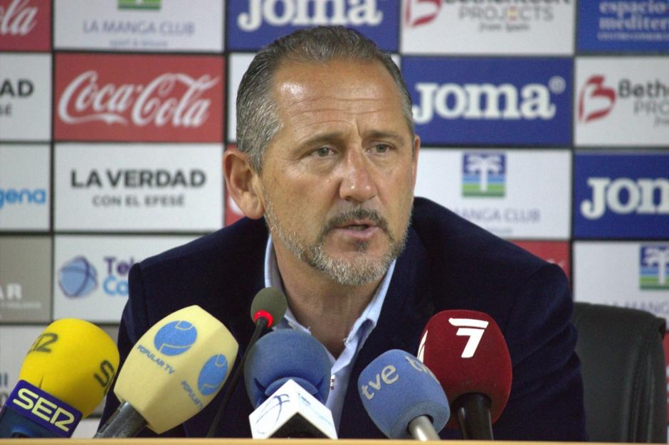 Palomeque post partido contra el CD San Roque de Lepe. Foto: Pedro Gómez (Crónicas deportivas de Cartagena).