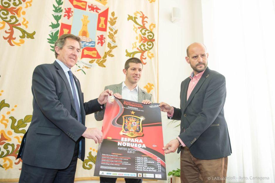 Presentación del Partido España Noruega.