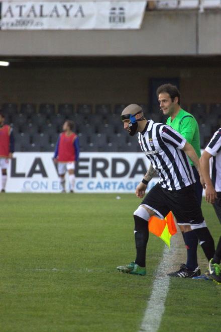Seba Ribas reapareciendo tras  el encuentro contra el Granada CF B