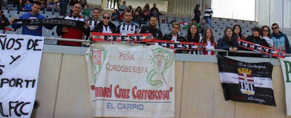 Afición del Cartagena en Córdoba