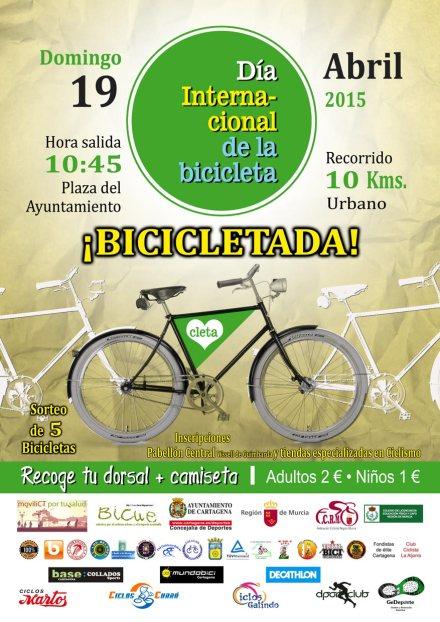 cartel día internacional de la bicicleta en Cartagena