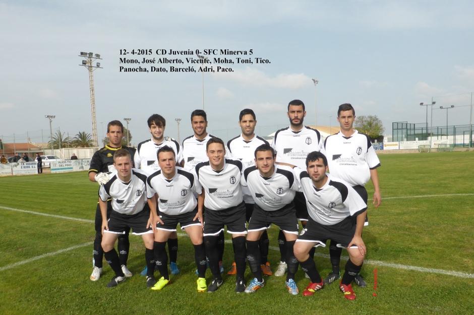 SFC Minerva en Juvenia 12-4-2015