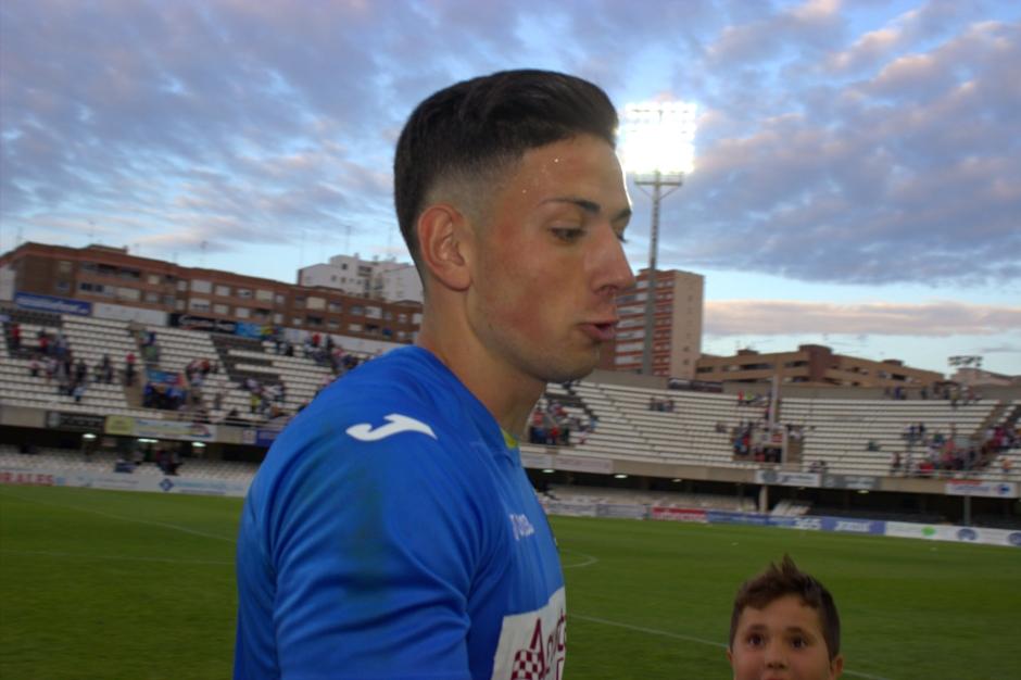 Manzanares en su debut con el FC Cartagena. Foto: Pedro Gómez (Crónicas deportivas de Cartagena).