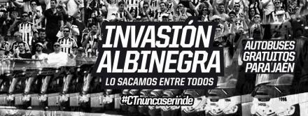 Invasión albinegra a Jaén.