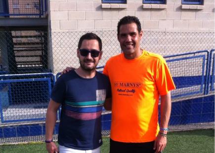 Paco Belmonte junto a Juanmi