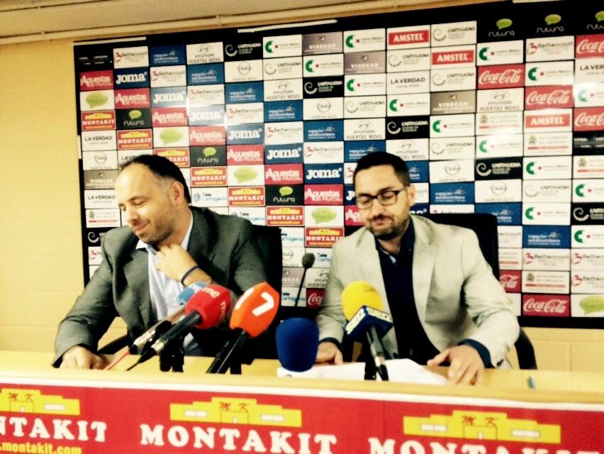 Paco Belmonte y Deseado Flores en la rueda de prensa. Foto: Pepe González (OM Radio).