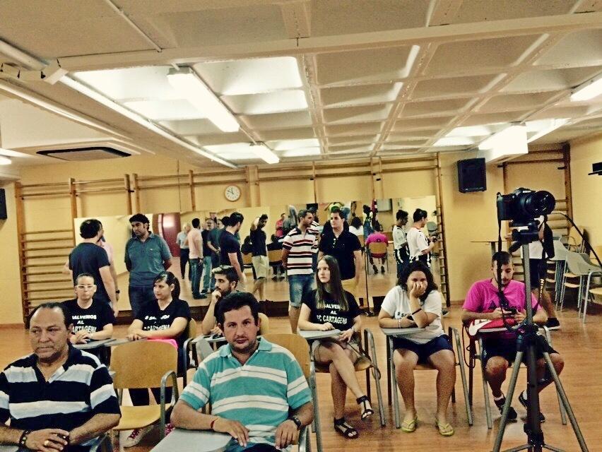 Sala de prensa del Cartagonova. Foto: Pepe González (OM Radio).