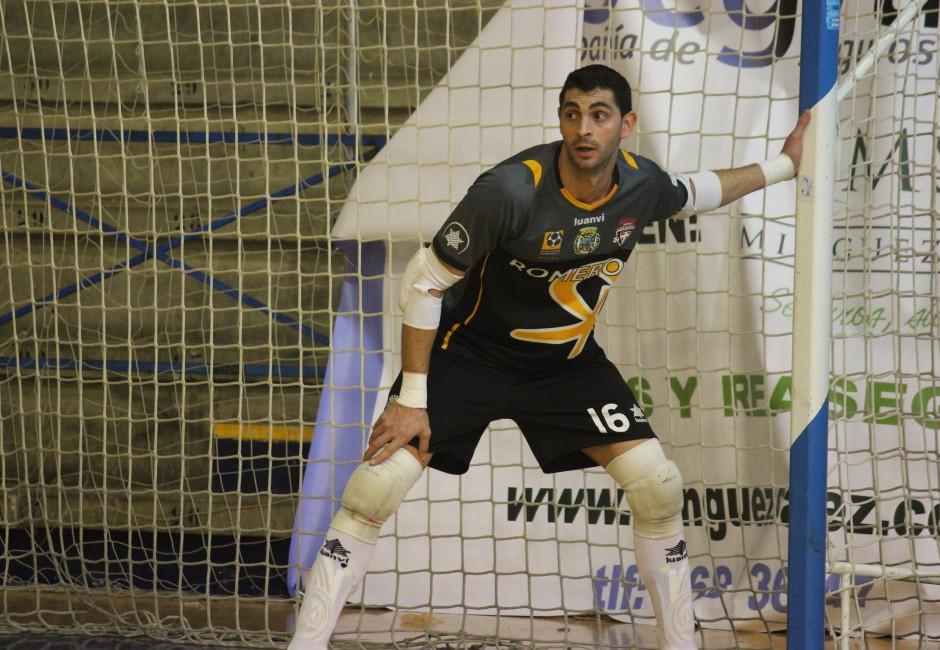 Raúl Jerez en un encuentro de Plásticos Romero Cartagena FS. Foto: Pedro Gómez (Crónicas deportivas de Cartagena).